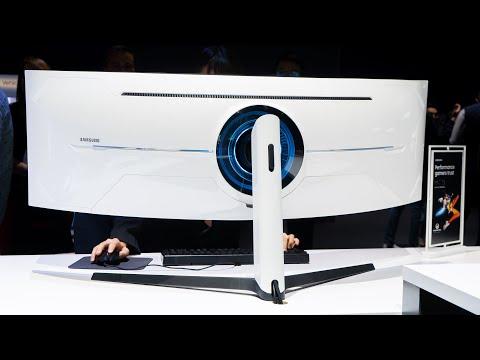 Samsung Odyssey G9 Gaming-Monitor mit extremer Krümmung, 240 Hz und 1ms #CES2020