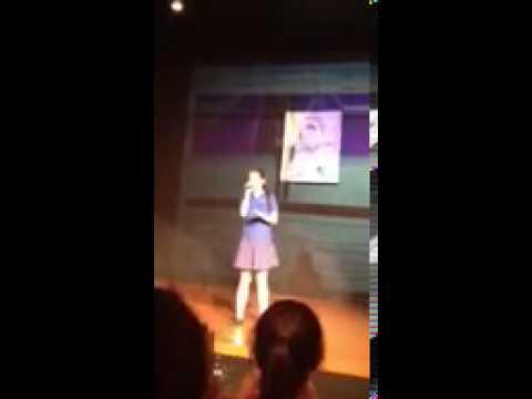 Lauren Jauregui performing in high school