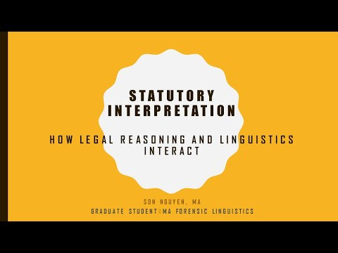 LingTalk 6.3 || Statutory interpretation - How legal reasoning and linguistics interact