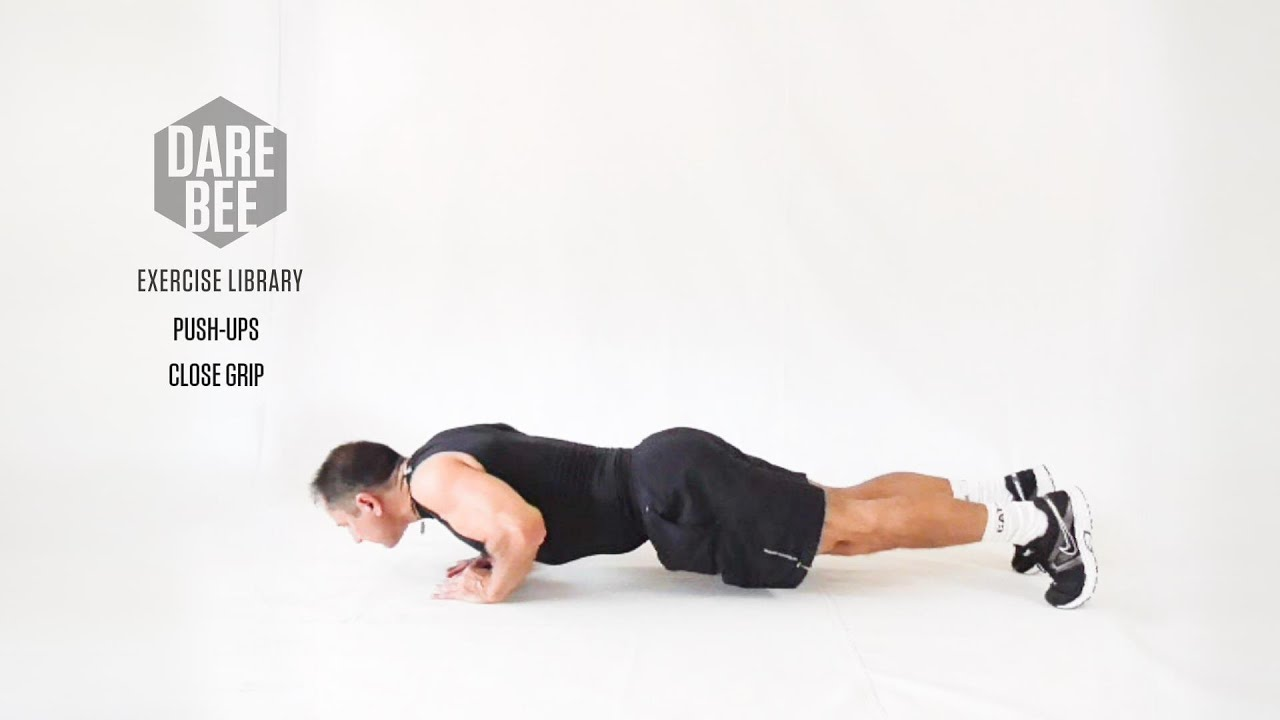 Exercise Library: Push-Ups / Close Grip