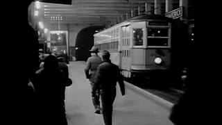 1949 - Streetcar Station and Ride in Boston, MA