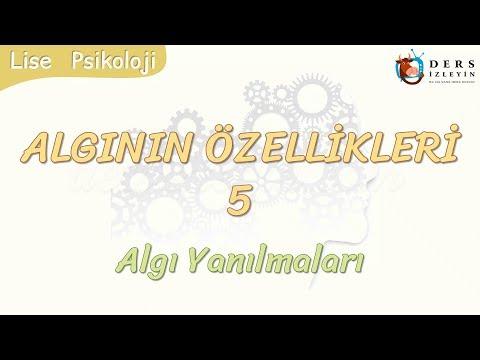 ALGININ ÖZELLİKLERİ - 5 / ALGI YANILMALARI