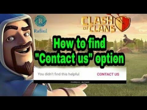 How To Find Contact Us Option In Clash Of Clans 2018