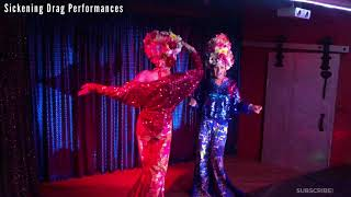 Calgary Drag Queens Perform I Love The Nightlife at Twisted Element! Terri Stevens & Justine Tyme