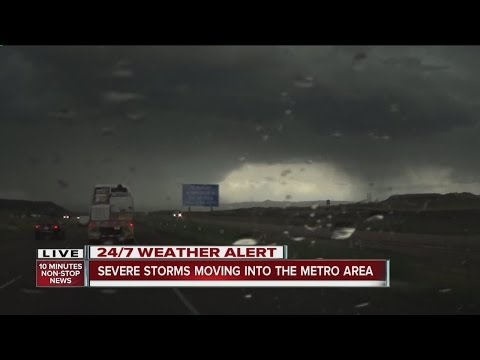 Severe storms move into the Denver metro
