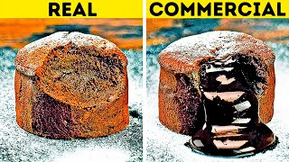 FOOD IN COMMERCIALS VS. IN REAL LIFE  24 ADS TRICKS