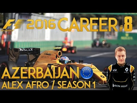 F1 2016 Game Career Mode - Part 8 EUROPEAN GRAND PRIX (BAKU)