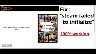 Fix : Steam failed to intialize 100% working in easiest method
