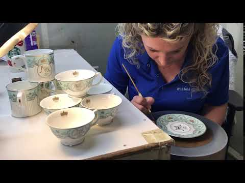 William Edwards Home | Gilding Bone China by Hand 2nd Fire - Royal Wedding