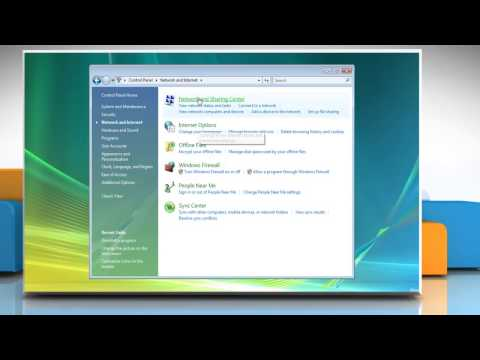 Windows® Vista: Turn Network Discovery on or off