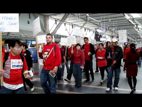 Pt.1 - YVR Screening Officers Rally Against CATSA Cutbacks