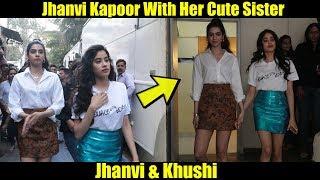 Cute Sisters Jhanvi And Khushi Kapoor At Neha Dhupia's Vogue BFFs - Season3
