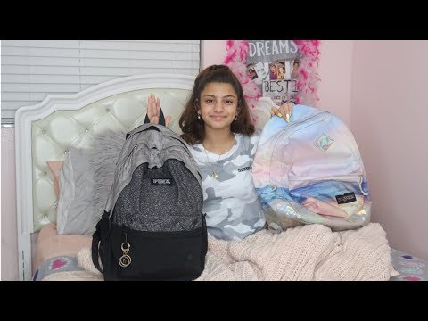 WHAT'S IN MY 5TH GRADE BACKPACK  AND  IN MY NEW BACKPACK