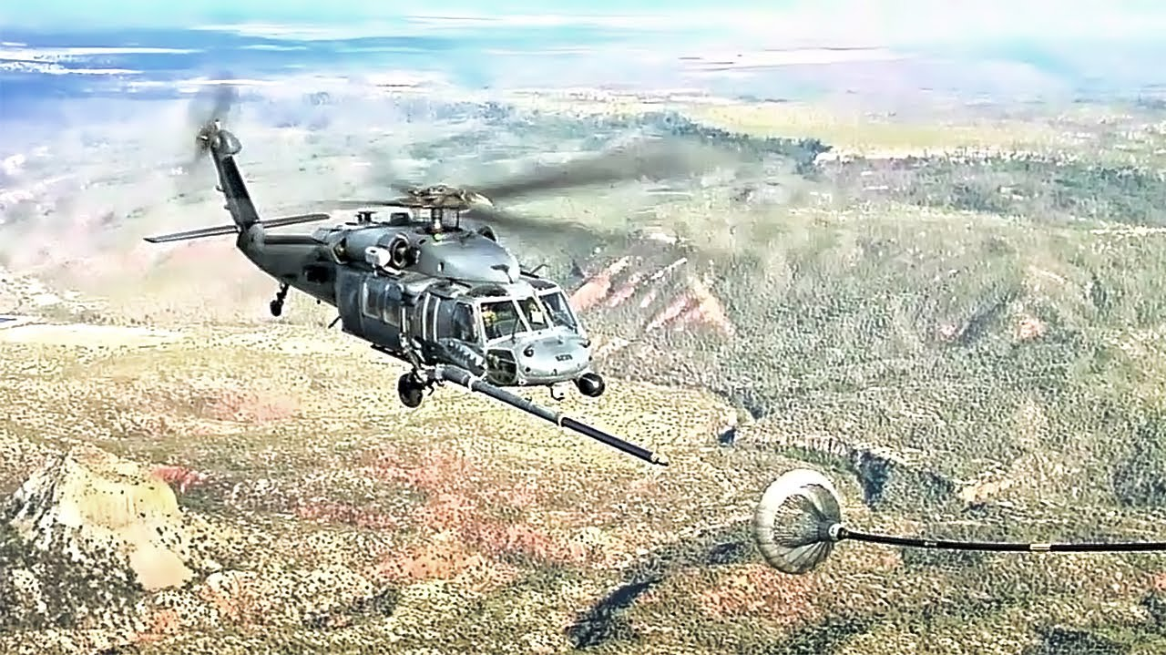 Aerial Refueling Pave Hawk Helicopter - YouTube