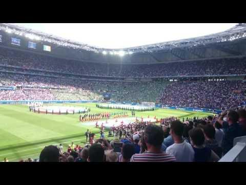 France vs Ireland Anthems - EURO 2016 - Parc Olympique Lyonnais