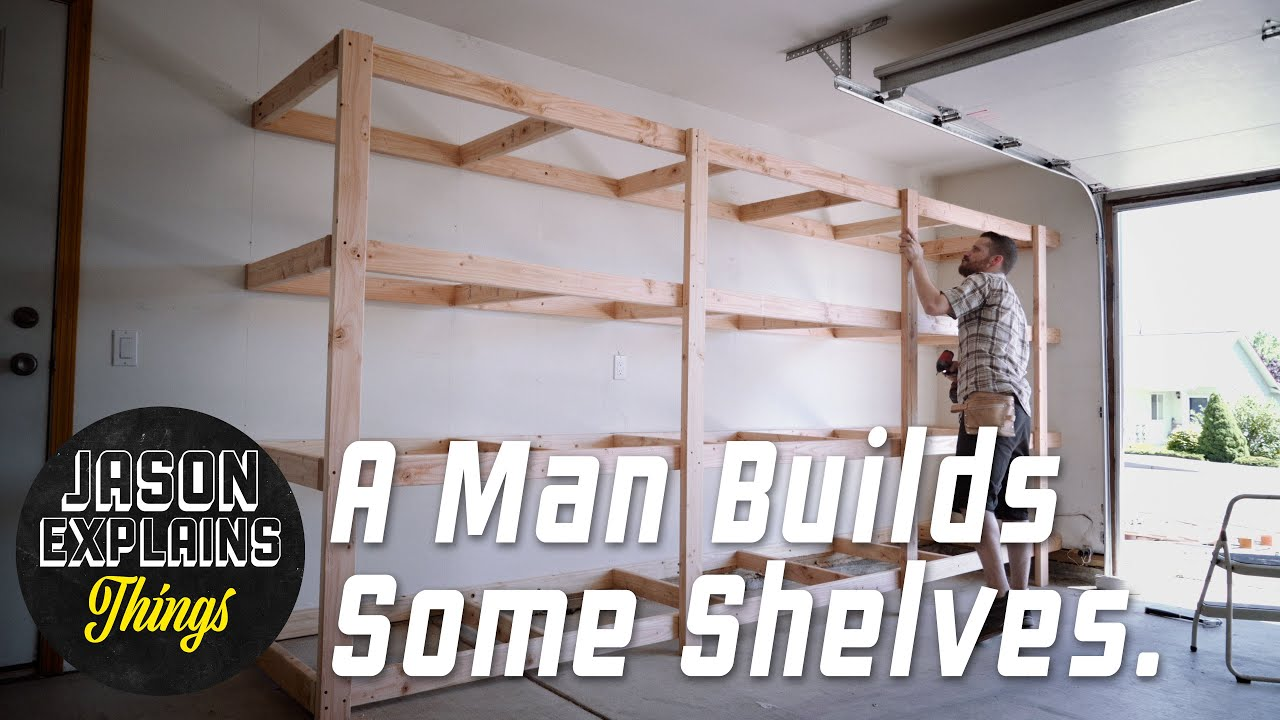Garage Storage Shelves Easy Build