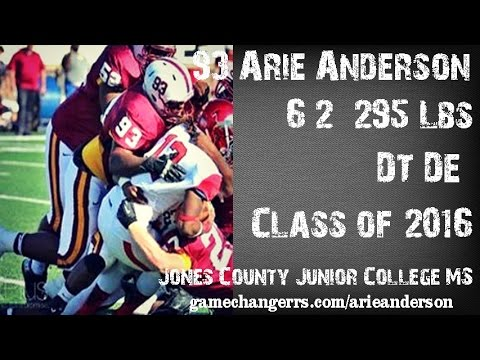 #93 Arie Anderson / DT,DE / Jones County Junior College (MS) Class of 2016