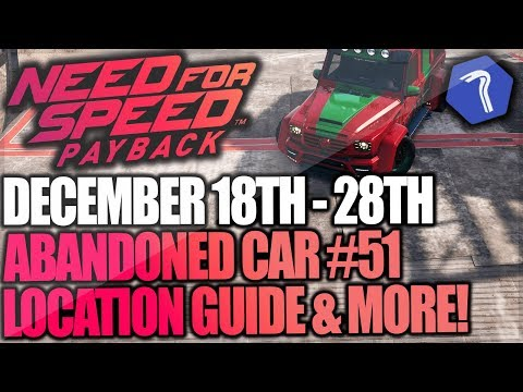 Need For Speed Payback Abandoned Car #51 - Location Guide + Gameplay - CHRISTMAS MERCEDES G63!