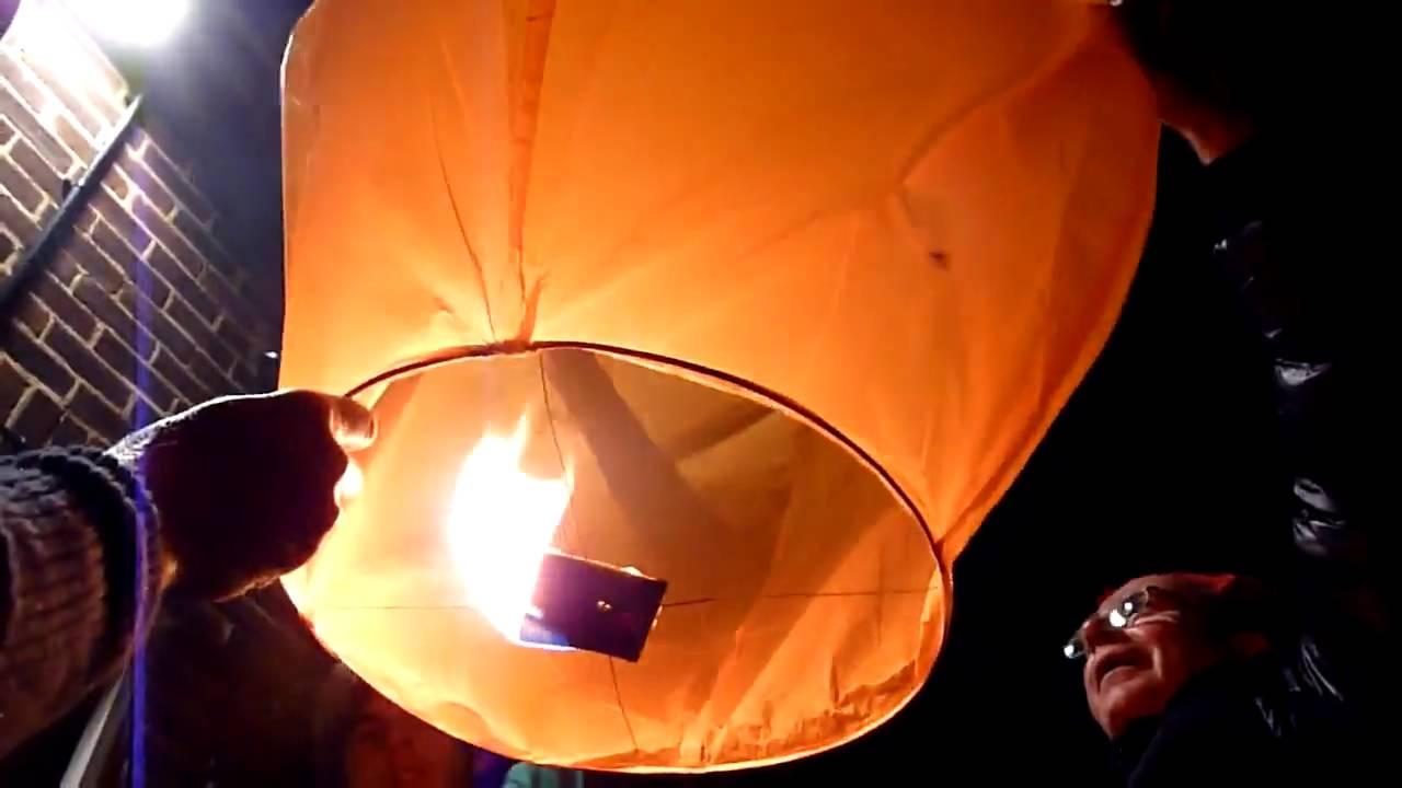 how to make a sky lantern video
