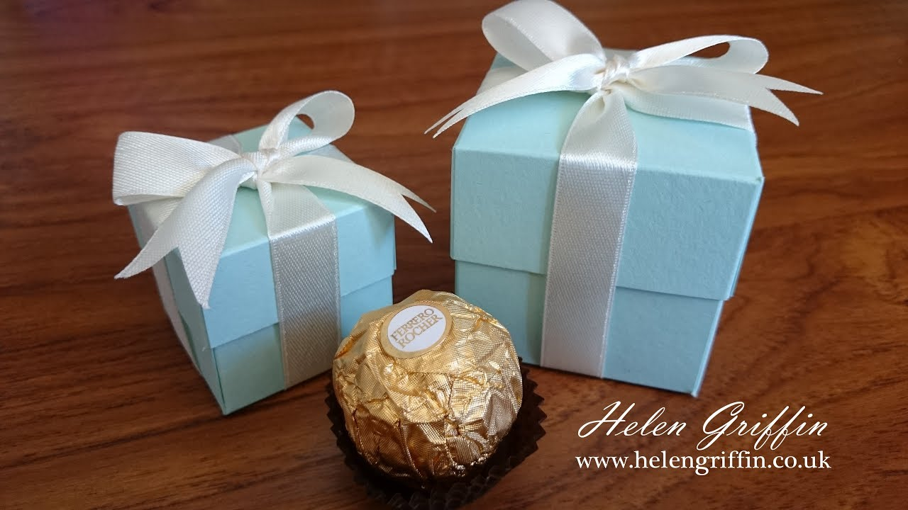 Tiffany Inspired Wedding Gift Box Tutorial With Perfect Bow Youtube