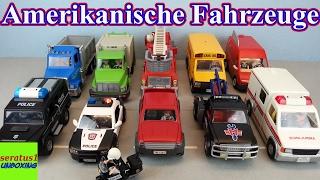 Playmobil Amerikanische Fahrzeug Sammlung seratus1 unboxing