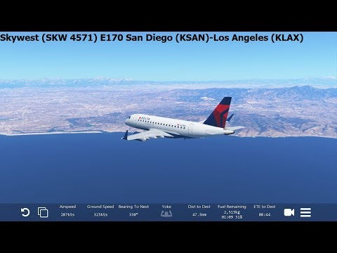 [Infinite Flight Global] Skywest Airlines Embraer E170 (SKW4571) San Diego-Los Angeles