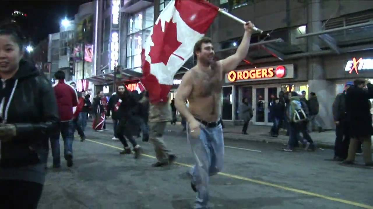 2010 Olympic Men's Hockey Gold Celebration in Toronto ...