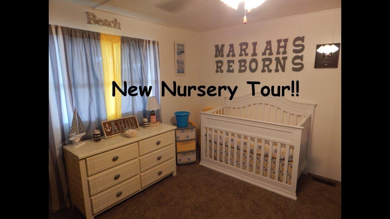 New Nautical Ocean Beach Theme Reborn Silicone Baby Nursery Tour