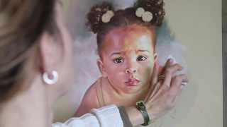 How to make a pastel portrait step by step (read description)