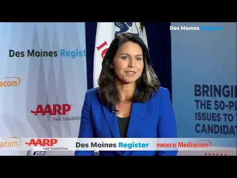 Tulsi Gabbard on broadband internet access | A look back at the  AARP/Register forums (8/17)