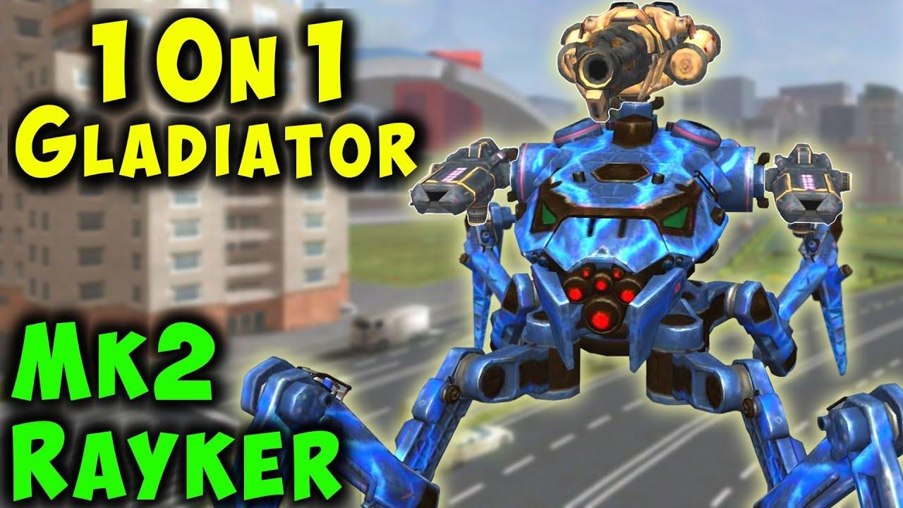 Ultimate 1on1 Gladiator - RAYKER Mk2 Ember Halo War Robots