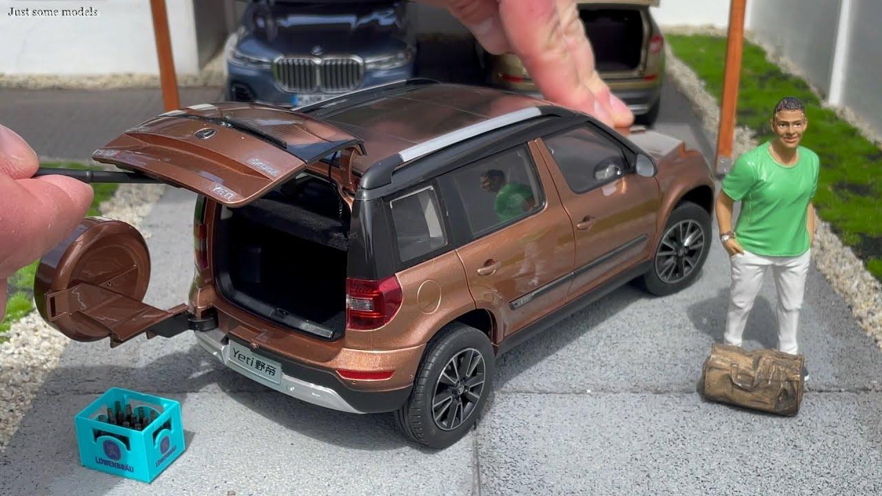 1:18 Skoda Yeti 4x4 TSI facelift (5L) 2013, gold - Paudi [Unboxing]
