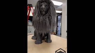Hair Dressing The World's Biggest Hairy Lion 3D Print