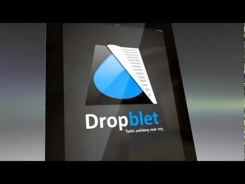 Dropblet Tablet Magazine and Newspaper Apps promo