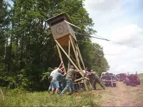 Deer Stand Shooting House Towerstand Youtube