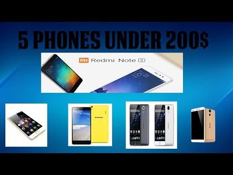 Top 5 Smartphones Under 200$ [2016]