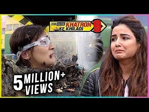 Jasmine Bhasin BREAKSDOWN After Watching Ridhima Pandit Stunt | Khatron Ke Khiladi 9