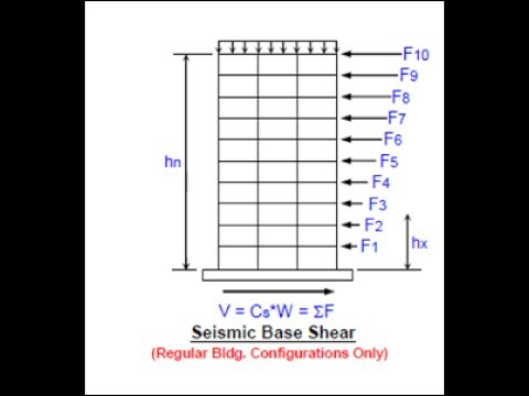 calculating the seismic design force and seismic base shear for reinforced concrete building