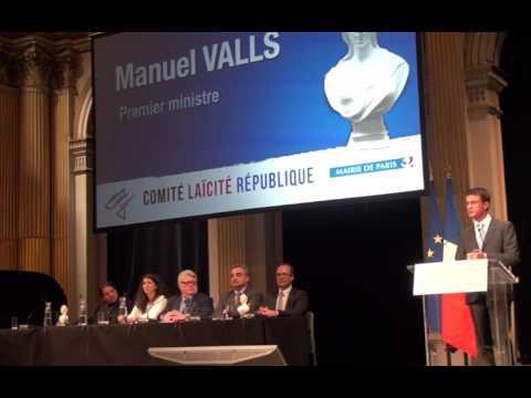 Prix de la Laïcité 2015 - Vidéo du discours de Manuel Valls