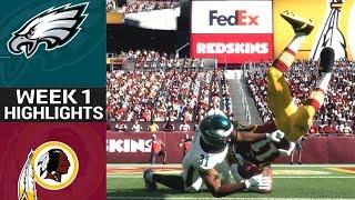 Eagles vs. Redskins | NFL Week 1 Game Highlights Madden 18