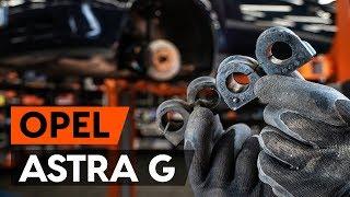 Hoe een stabilisatorstang rubbers vooraan vervangen op een OPEL ASTRA G CC (F48, F08) [AUTODOC]