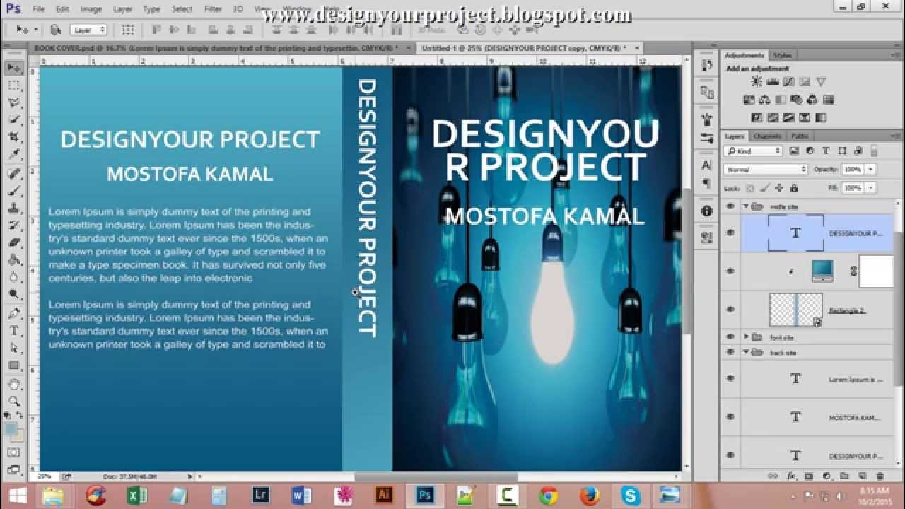 Book Cover Psd Tutorial : How to design book cover photoshop bangla tutorial youtube