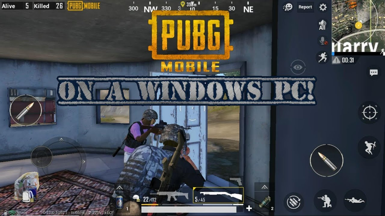 Gameplay of PUBG Mobile on a Windows 10 PC, using Andy Android  Winner  Chicken Dinner! I win!
