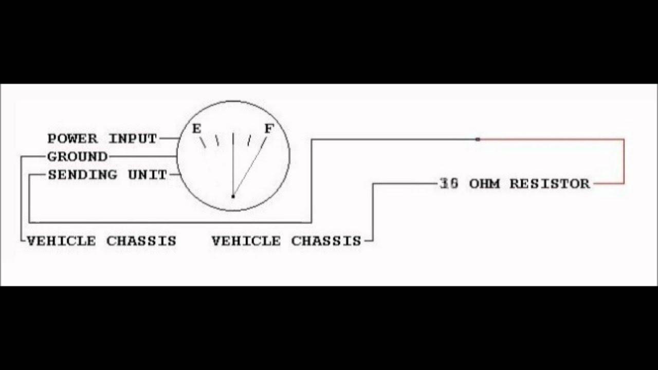 Chevrolet Fuel Gauge Operation with Resistors replacing