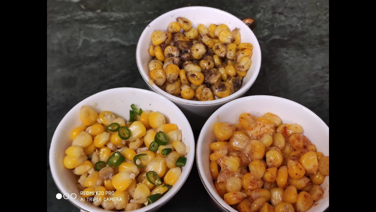 Download American Corn 3 Ways - Cheese Chilli, Masala and Butter Sweet Corn