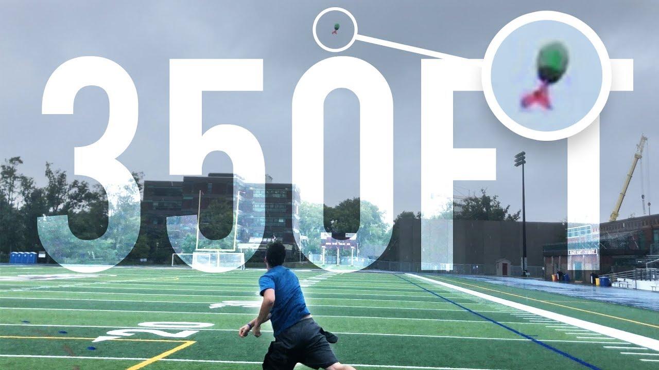 A Custom FOOTBALL That Can Be Thrown 350feet!