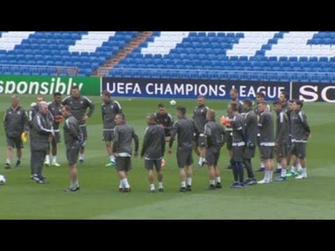 Así fue el entrenamiento del Bayern en el césped del Bernabéu