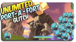 How 2 throw UNLIMITED PORT-A-FORT's on FORTNITE! (Fortnite Exploits)