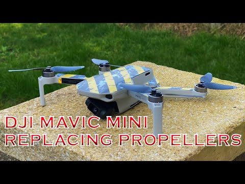 Changing propellers on dji mavic mini