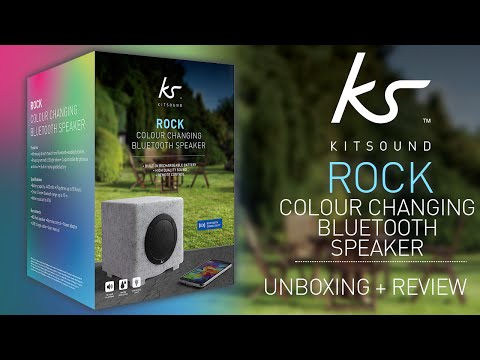 KitSound Rock Water Resistant Colour Changing Bluetooth Speaker Unboxing & Review!